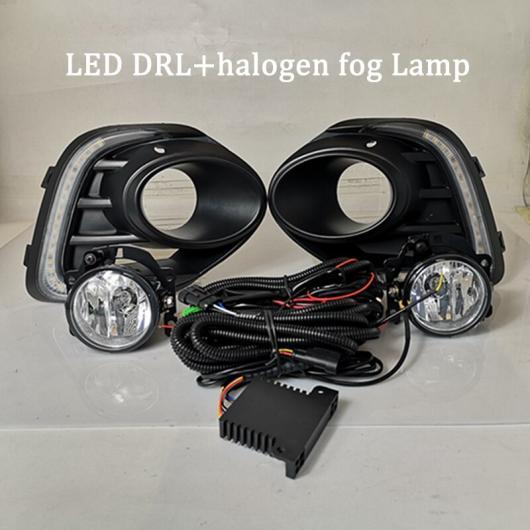 AL 適用: 三菱 ランサー 2016 2017 2018 2019 イエロー ターンシグナル 機能 DRL 12V LED デイタイムランニングライト ハロゲン フォグランプ DRL フォグランプ AL-HH-1662
