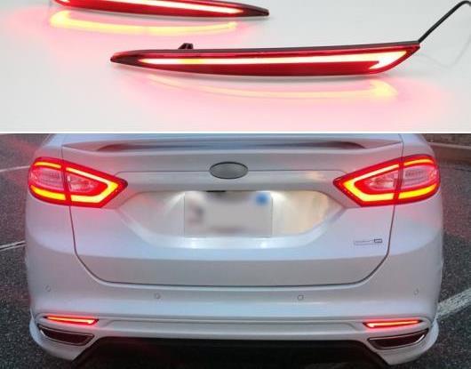 AL 適用: フォード/FORD モンデオ フュージョン 2013 2014 2015 2016 2017 2018 LED バンパー ライト リア フォグランプ ブレーキ ライト ターンシグナル ライト リフレクター AL-HH-1420