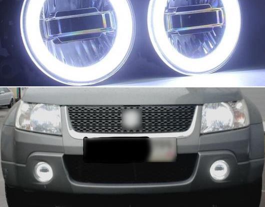 AL 3in1 ファンクション オート LED エンジェルアイ デイタイムランニングライト プロジェクター フォグランプ 適用: スズキ グランド ビターラ 2007-2012 AL-HH-1437
