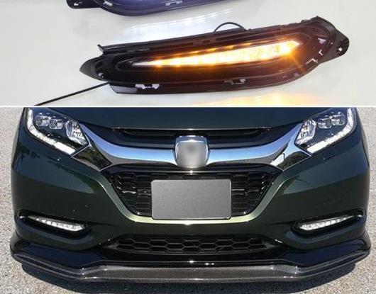 AL 適用: ホンダ HRV HR-V 2015 2016 2017 2018 ターン イエロー シグナル リレー 防水 ABS DRL 12V LED デイタイムランニングライト AL-HH-1474