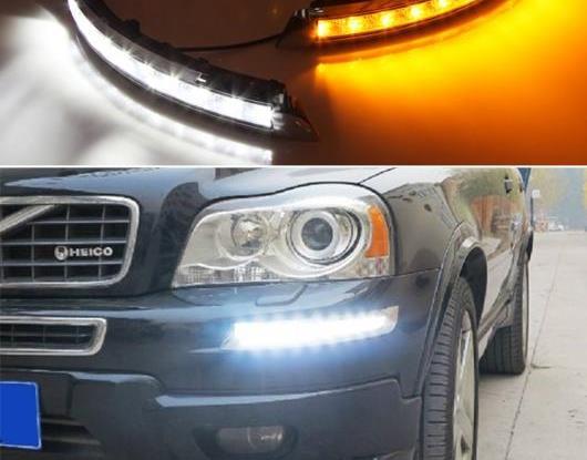 AL 適用: ボルボ/VOLVO XC90 2007-2012 2013 ターン イエロー シグナル リレー 防水 ABS LED DRL 12V LED デイタイムランニングライト デイライト AL-HH-1487