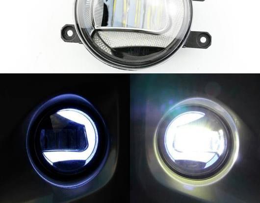 AL 2in1 ファンクション セーフティー ドライビング オート バルブ LED デイタイムランニングライト プロジェクター フォグランプ 適用: トヨタ プラド FJ150 2010-2018 AL-HH-1533