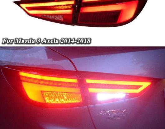 AL LED テールライト テールライト 適用: マツダ 3 2014-2018 リア ランニング ライト + ブレーキ ライト + リバース ランプ + ダイナミック ターンシグナル ライト AL-HH-1592