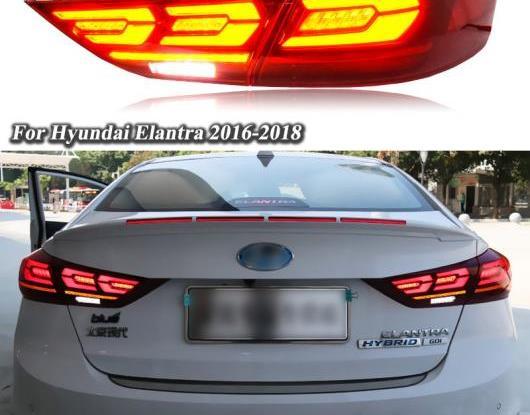 AL LED テールライト テールライト 適用: ヒュンダイ/現代/HYUNDAI エラントラ 2017 2018 リア ランニング ライト + ブレーキ ライト + リバース + ダイナミック ターンシグナル AL-HH-1598