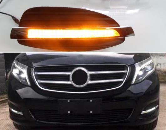 <title>送料無料 AL 2ピース 定価 適用: メルセデス ベンツ Vクラス ヴィト V250 V260 2016-2018 ダイナミック イエロー ターンシグナル 12V DRL ランプ LED デイタイムランニングライト AL-HH-1655</title>