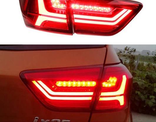 AL LED テールライト テールライト 適用: ヒュンダイ/現代/HYUNDAI クレタ 2014-2017 2018 リア ランニング ライト + ブレーキ ランプ + リバース + ダイナミック ターンシグナル AL-HH-1658