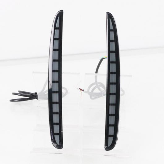 AL 2ピース 適用: ホンダ シビック タイプ R 2016 2017 2018 マルチファンクション LED リア バンパー フォグランプ ブレーキ ライト ダイナミック ターンシグナル リフレクター ブラック AL-HH-1778