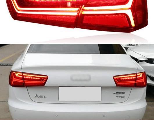 AL LED テールライト テールライト 適用: アウディ/AUDI A6 C7 2012-2015 2016 リア フォグランプ + ブレーキ ランプ + リバース ライト + ダイナミック ターンシグナル AL-HH-1723