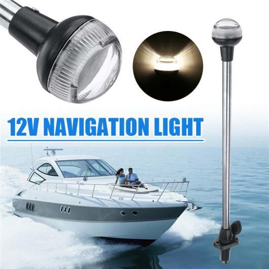 AL 24インチ DC 12V LED ナビゲーション ライト 防水 IP65 プラグ イン スターン アンカー ボート マリン ランプ 4500K AL-HH-1727