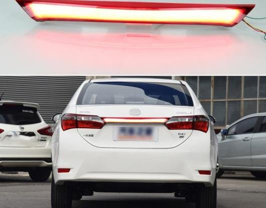 AL リア バンパー トランク テールライト 適用: トヨタ カローラ 2014-2018 2019 LED リア フォグランプ ブレーキ ライト ダイナミック ターンシグナル リフレクター AL-HH-1737