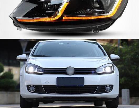 AL LED ヘッドライト 適用: フォルクスワーゲン/VOLKSWAGEN ゴルフ 6 2009-2013 MK6 R20 LED DRL ダイナミック ターンシグナル ヘッド ランプ アセンブリ AL-HH-1779