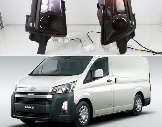 AL 適用: トヨタ ハイエース 2019 2020 シーケンシャル イエロー ターンシグナル リレー 防水 12V DRL ドライビング ランプ LED デイタイムランニングライト AL-HH-1786