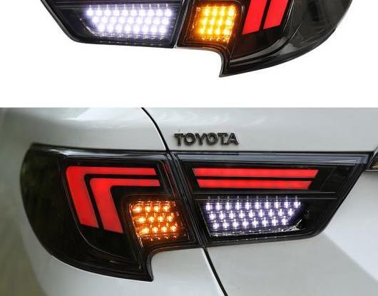 AL LED テールライト テールライト 適用: トヨタ マーク X 2013-2018 2019 リア フォグランプ + ブレーキ ライト + リバース ランプ + ターンシグナル ライト ブラック・レッド AL-HH-1806