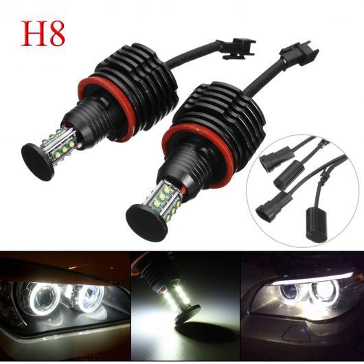 AL 2ピース 120W H8 LED アングル アイ フォグライト ヘッドライト マーカー ライト バルブ 適用: BMW E90 E92 E82 E60 E70 X5 E71 X6 E89 E87 E91 E61 E64 AL-HH-1843