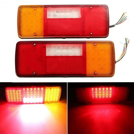 AL 2ピース 12V LED リア テール ライト テールライト ブレーキ ライト ストップ インジケーター リバース ランプ シグナル 4 モード 適用: キャラバン バン トレーラー トラック AL-HH-1869