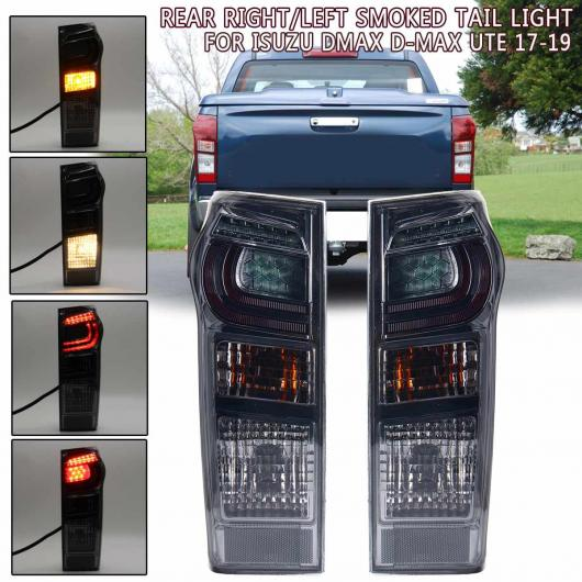 AL LED テールライト ブレーキ リア ランプ 左 右側 適用: いすゞ DMAX D-MAX UTE 2017 2018 2019 8961253983 898125393 W/ワイヤー ペア ダーク レッド~ペア フォグ レンズ AL-HH-1933