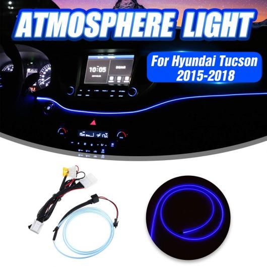 AL LED インストルメント パネル トリム 装飾 ライト ダッシュボード フレーム ライト ストリップ インテリア 適用: ヒュンダイ/現代/HYUNDAI ツーソン 2015 2016 2017 2018 AL-HH-1939
