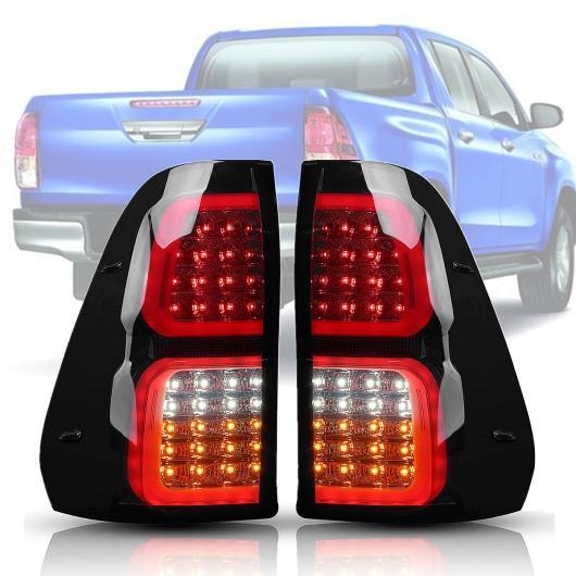 AL 1ペア 2ピース スモーク テールライト LED リア テール ライト ブレーキ ランプ 適用: トヨタ ハイラックス ヴィーゴ レボ 2016-2018 シグナル ランプ ワイヤー AL-HH-1960