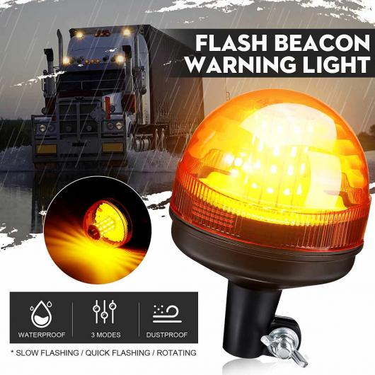 AL 12V 24V 40 LED ルーフ ワーニング ライト ランプ 回転 ストロボ ビーコン ライト シグナル トラック トラクター トレーラー ATV 3 モード アンバー 1 ピース AL-HH-2019