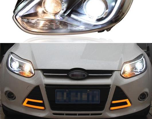 AL LED ヘッドライト 適用: フォード/FORD フォーカス 3 MK3 2012 2013 2014 LED DRL ハロゲン ターンシグナル ヘッド ランプ アセンブリ アップグレード AL-HH-2051