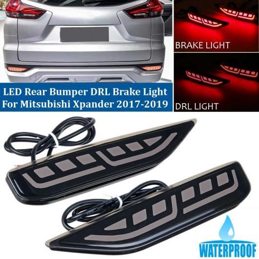 AL 1ペア リア バンパー テールライト LED DRL ドライブ ライト + ブレーキ ストップ ランプ 適用: 三菱 エクスパンダー 2017 2018 2019 テールライト スモーク・レッド AL-HH-2063