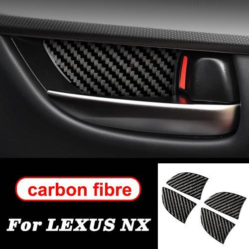 AL 適用: レクサス NX 300H200T LHD RHD アクセサリー ステアリング ホイール ドア ギア パネル 装飾 カーボンファイバー インテリア トリム ステッカー インナー ハンド B AL-II-0032