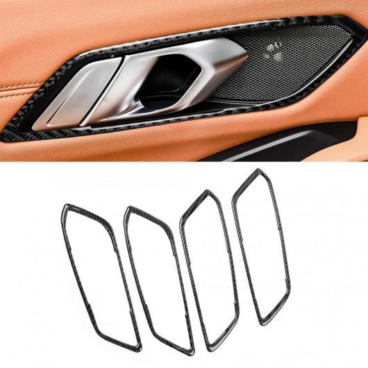 AL 4ピース/セット カーボンファイバー ドア ハンドル フレーム トリム 適用: BMW 3シリーズ G20 325 330 335 2019 2020 左ハンドル車 AL-II-0208