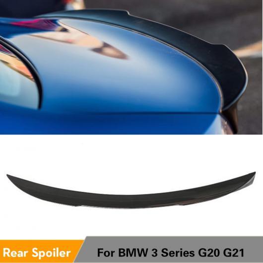 AL リア トランク スポイラー ブーツ リップ ウイング 適用: BMW 3シリーズ G20 G21 2019 2020 リア スポイラー ABS 光沢 ブラック カーボン 調 カーボン 調・光沢 ブラック AL-II-0242