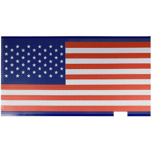AL フロント フード マット グリル グリッド アメリカン 旗 スチール メッシュ 適用: 2007-2018 ジープ/JEEP ラングラー JK JKU タイプ001 AL-II-0368