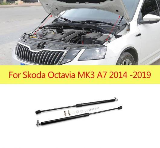 AL 2ピース/セット フロント ボンネット フード ガス ショック リフト ストラット バー サポート ロッド 適用: シュコダ オクタヴィア A7 MK3 2014-2019 AL-II-0770
