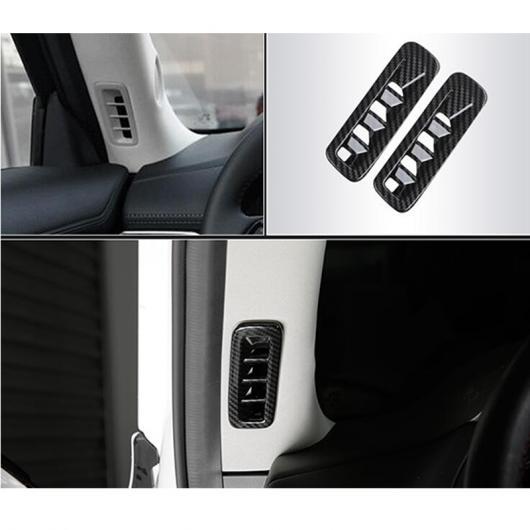 AL ABS カーボン ファイバー 適用: マツダ CX-5 アクセサリー 2017 2018 2019 2020 フロント スモール エア ベント 装飾 カバー トリム シルバー・カーボン AL-II-1193