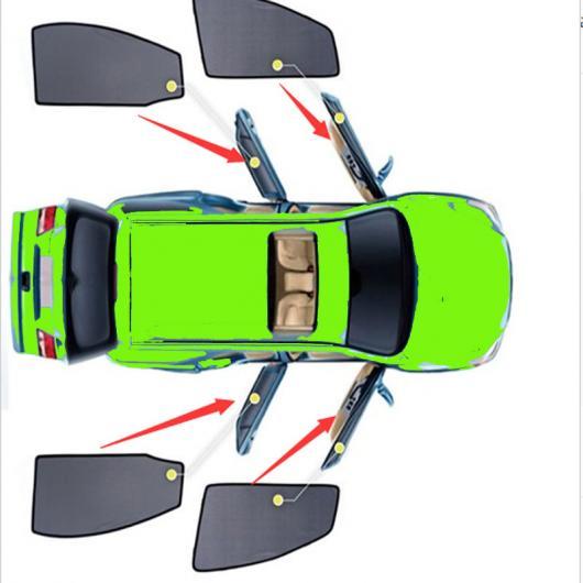 AL サイド ウインドウ サンシェード メッシュ シェード ブラインド 適用: ホンダ HRV HR-V 2013-2019 ブラック ブラック AL-II-1525