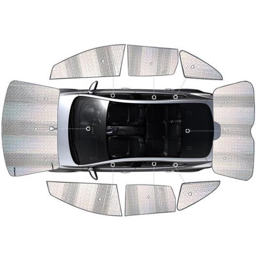 AL 適用: アンクレイブ エンビジョン エクセル ラクロス ベラーノ アンコール ウィンドウ サンシェード 天窓 日よけ サン バイザー リア フロント フロントガラス 8ピース AL-II-1648
