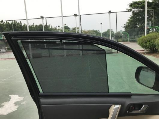 AL 適用: スバル XV アウトバック フォレスター レガシィ インプレッサ インテリジェント テレスコピック メッシュ シェード 2 リア ドア シェード・2 フロント ドア シェード AL-II-1640