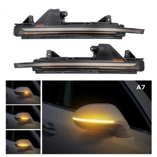 AL 2ピース LED フロー ウォーター リア ビュー ダイナミック シーケンシャル ミラー ウインカー 適用: アウディ/AUDI A3 S3 RS3 A6 C7 RS6 Q5 SQ5 Q7 SQ7 アウディ A7 AL-II-1719