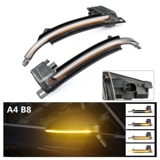 AL 2ピース LED フロー ウォーター リア ビュー ダイナミック シーケンシャル ミラー ウインカー 適用: アウディ/AUDI A3 S3 RS3 A6 C7 RS6 Q5 SQ5 Q7 SQ7 アウディ A4 B8 AL-II-1719