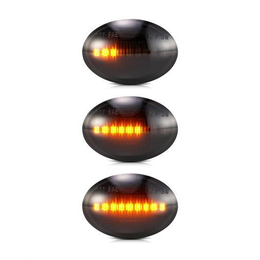 AL 2ピース LED ダイナミック ウインカー サイド マーカー ライト シーケンシャル アンバー フェンダー シグナル ランプ 適用: フィアット/FIAT 500 シーケンシャル AL-II-1881