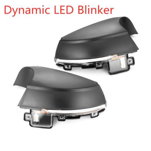 AL 2ピース 適用: フォルクスワーゲン/VOLKSWAGEN VW ポロ MK5 6R 6C 2009-2017 ダイナミック ウインカー LED サイド バックミラー ミラー インジケーター シーケンシャル LED ウインカー AL-II-1922