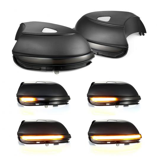 AL 2ピース ダイナミック バックミラー ミラー インジケーター ウインカー サイド LED 適用: フォルクスワーゲン/VOLKSWAGEN VW パサート B7 シロッコ MK3 CC イオス ビートル AL-II-1774