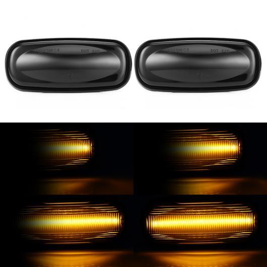 AL 2ピース フロー ウォーター サイド マーカー シグナルライト ダイナミック LED リピーター インジケーター 適用: ランドローバー/LAND シーケンシャル AL-II-1801