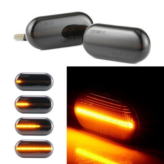 AL 2ピース LED ダイナミック サイド マーカー インジケーター ウインカー シーケンシャル ライト 適用: メルセデスベンツ/MERCEDES BENZ スマート/SMART フォーツー用 W453 C453 AL-II-1824
