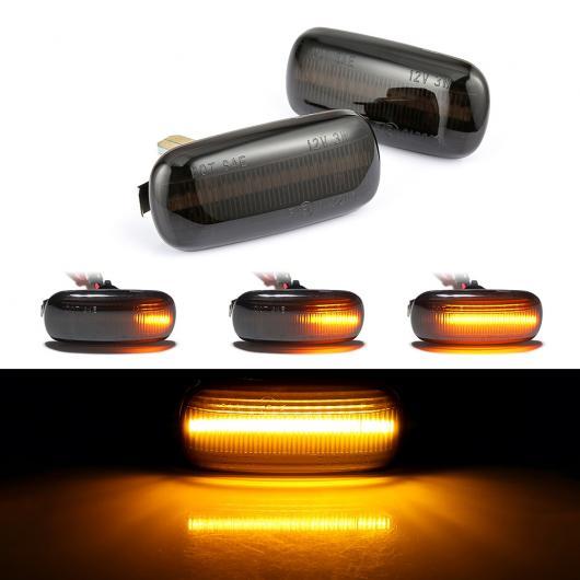 AL 2ピース LED ダイナミック サイド マーカー ウインカー 適用: アウディ/AUDI A3 S3 8P A4 S4 RS4 B6 B7 B8 A6 S6 RS6 シーケンシャル ライト EMARK 通常・シーケンシャル AL-II-1851