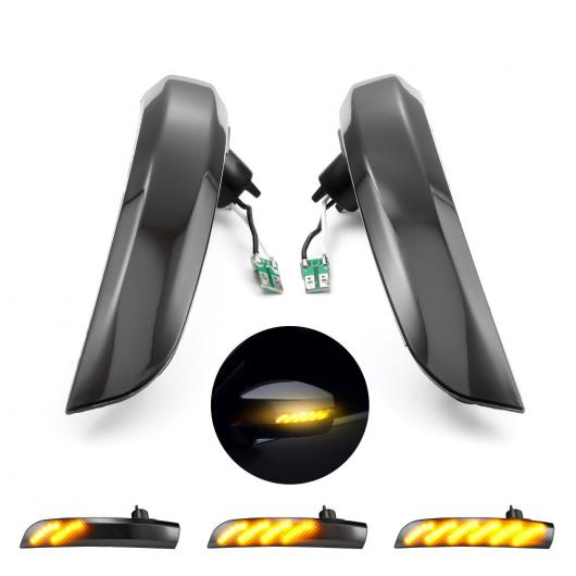 AL 2ピース ダイナミック LED ウインカー フロー サイド ウイング ミラー インジケーター 適用: フォード/FORD クーガ エスケープ エコスポーツ 2013-2018 AL-II-1904