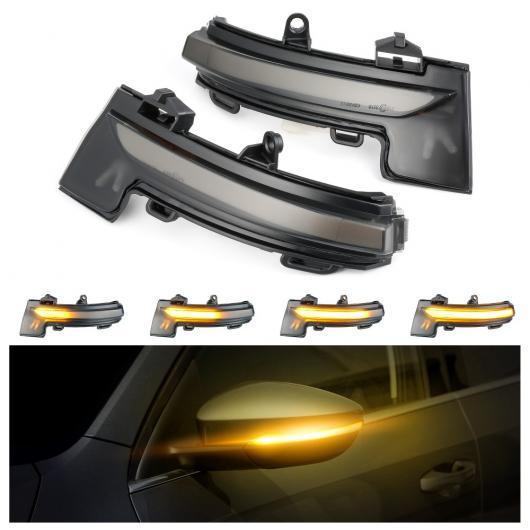 AL 適用: シュコダ オクタヴィア MK3 A7 5E 2013 2014 2015 2016 2017 2018 2019 バックミラー ミラー ウインカー インジケーター LED ダイナミック AL-II-1907