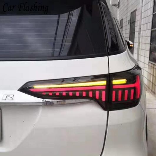 AL 適用: トヨタ フォーチュナ テール ライト 2016 2017 2018 2019 ダイナミック シグナル ランプ LED テールライト DRL アクセサリー レッド カバー・ブラック カバー AL-II-1946