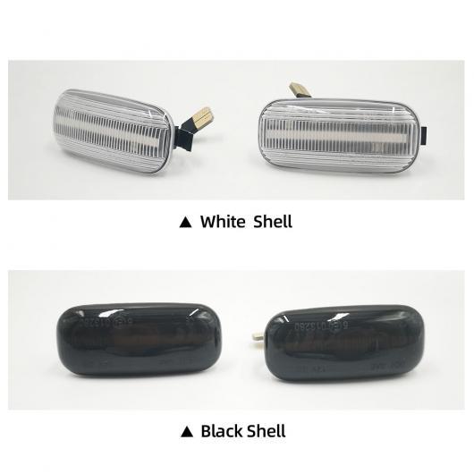 AL 2ピース フロー サイド マーカー ライト 適用: アウディ/AUDI A2 A3 A4 A6 A8 TT ウインカー アンバー スモーク LED ダイナミック ウインカーランプ ブラック・ホワイト 通常 AL-II-2009