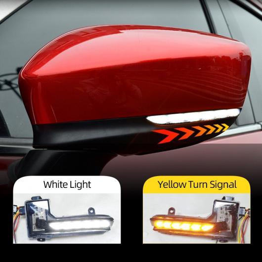 AL 2ピース 適用: マツダ 3 6 2017 2018 2019 ダイナミック LED ウインカー バックミラー ミラー インジケーター シーケンシャル ランプ アクセラ アテンザ ホワイト イエロー AL-II-2105