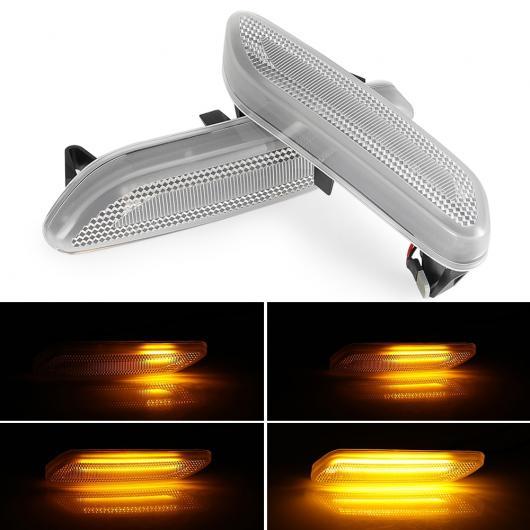AL 2ピース ダイナミック ウインカー LED サイド マーカー フロー シーケンシャル インジケーター アンバー 適用: BMW ミニ/MINI(BMW) クーパー シーケンシャル AL-II-2139
