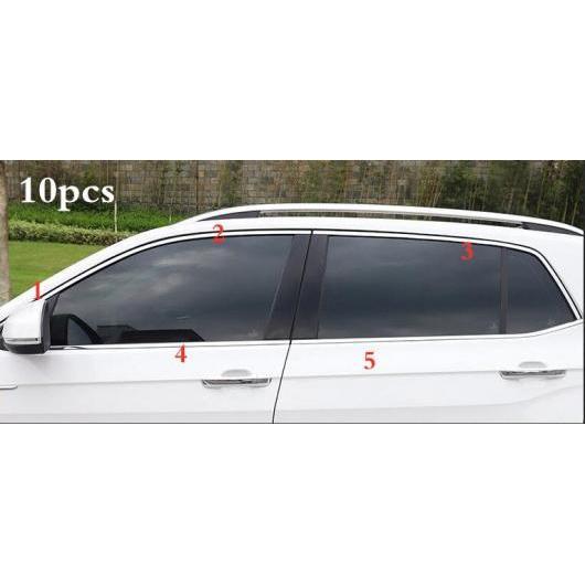 AL ステンレス スチール ウインドウ トリム ピラー トリム 適用: VW T クロス 2018-2019 2020 10ピース AL-II-2368