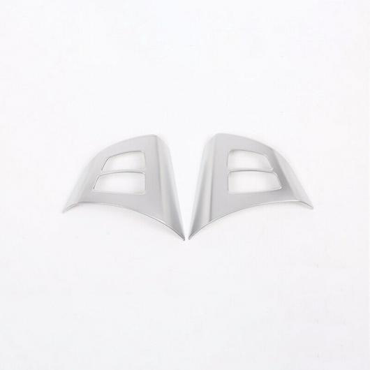 AL アクセサリー ステアリング ホイール トリム パーツ 2ピース フレーム シルバー 適用: BMW X5 E70 2008 2013 AL-II-2994